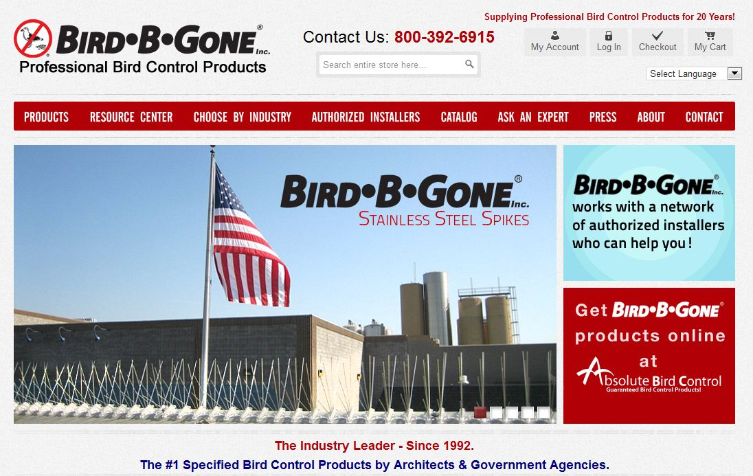 Bird-B-Gone Launches New Website
