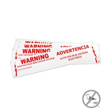 Bi-Lingual Warning Labels (10/pk)